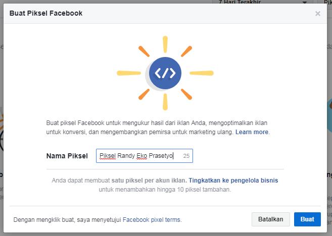 Buat Piksel Facebook