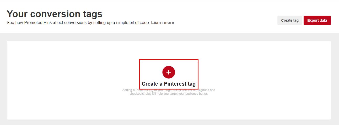 Membuat Pinterest tag