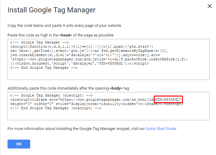 Script Google Tag Manager